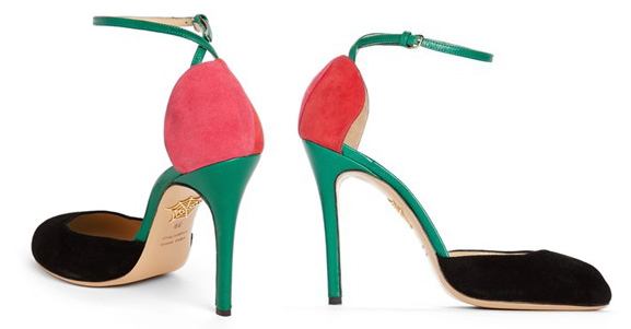 Cherry shoes by Charlotte Olympia