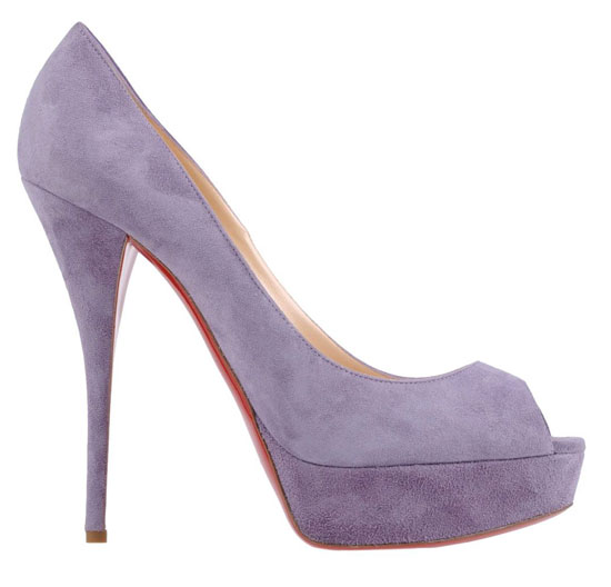 Christian Louboutin lilac peep toes,