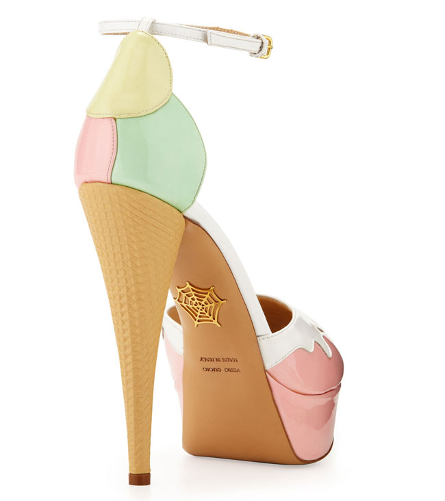 Ice cream cone heels by Charlotte Olympia