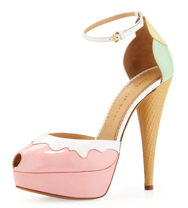 ice cream shoes by Charlotte Olympia