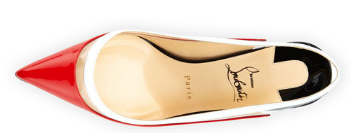 red shoes by Christian Louboutin