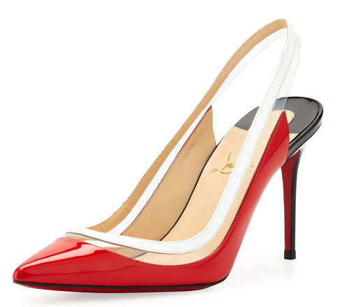Christian Louboutin red slingbacks