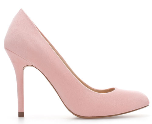 pale pink pumps from zara gt shoeperwoman