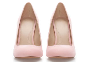 bad114e904ced Pale pink pumps from Zara