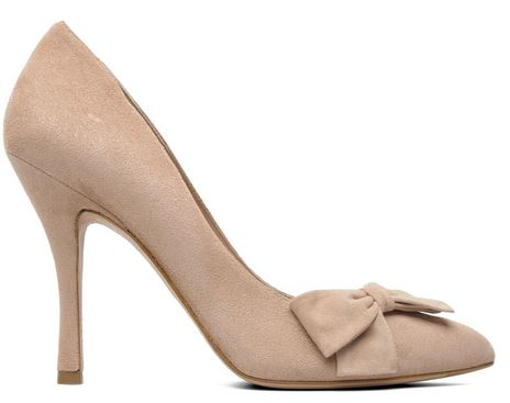 nude shoes with bow