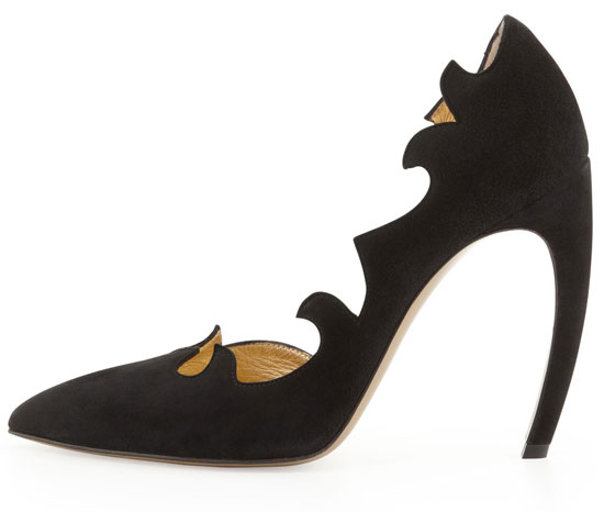 Walter Steiger black flame d'orsay pumps