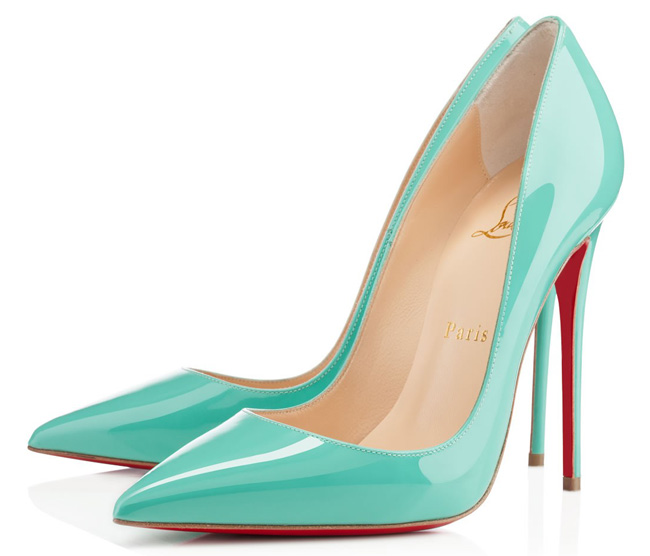 Christian Louboutin So Kate patent pumps