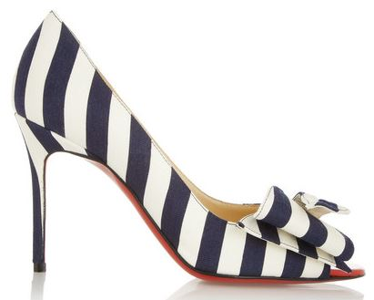 Christian Louboutin 'Just Soon' stripe pumps