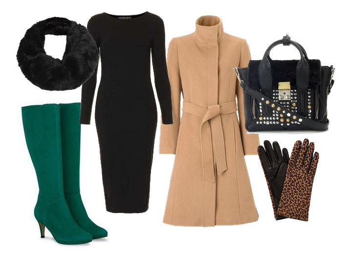 what to wear with green knee boots