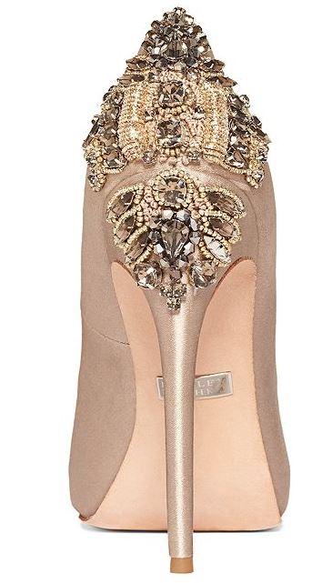 gold embellished high heel