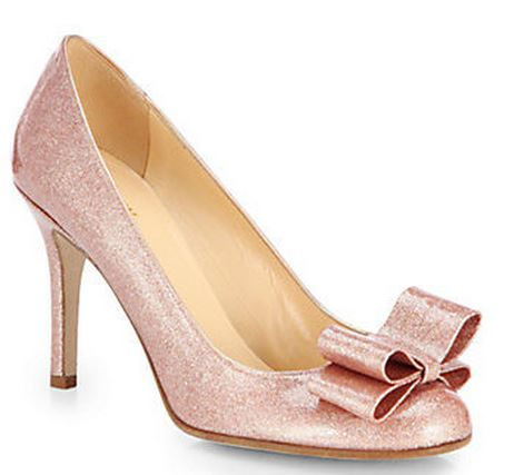 d063973be3b5 Kate Spade  Krysta  pink glitter bow pumps