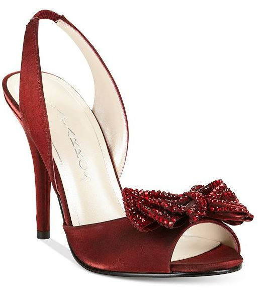 party shoes | red bow slingbacks