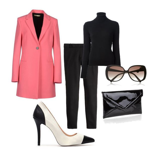 what to wear with black and white shoes