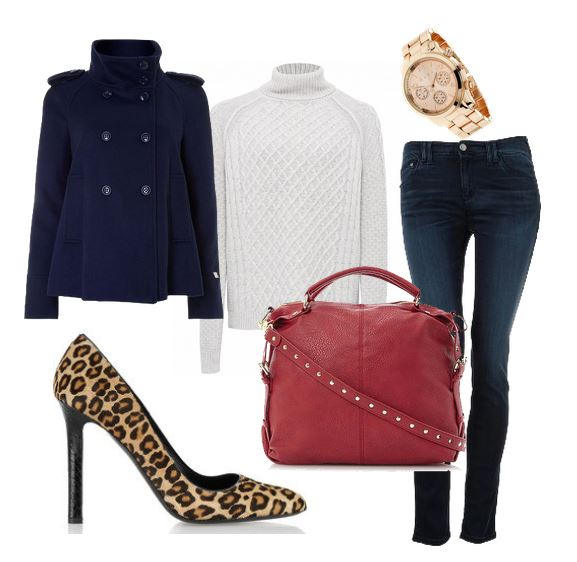 outfit with jeans and leopard print shoes