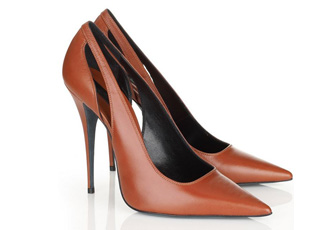 6c6fa166d217 Narciso Rogriguez  Cognac  leather pumps