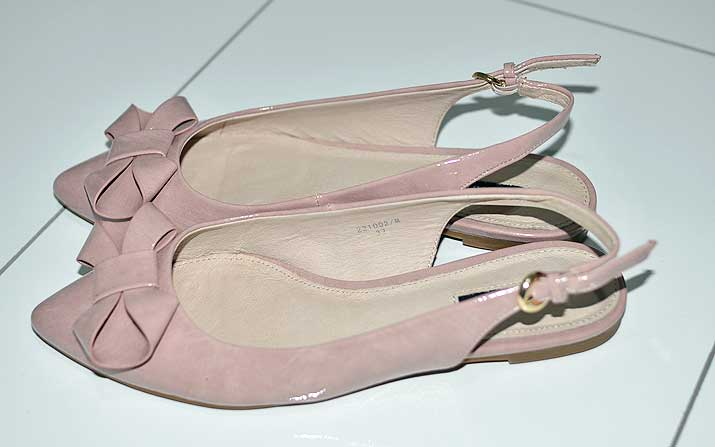 pink bow slingbacks