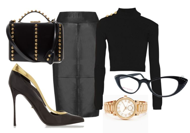 what to wear with black stilettos