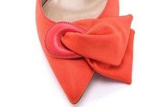 coral bow shoes