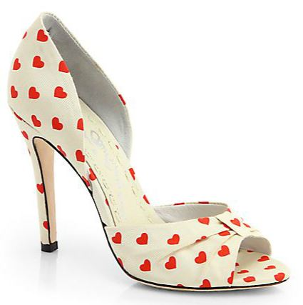 Alice + Olivia Gigi heart print shoes