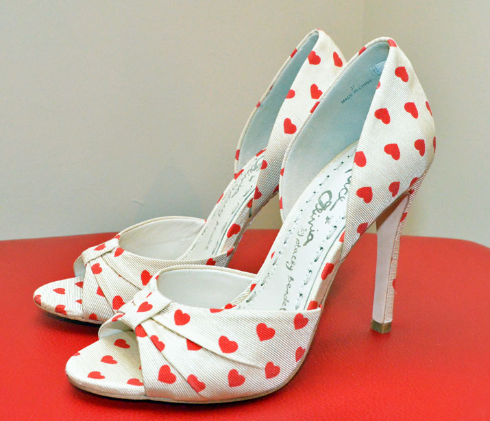 heart-print shoes
