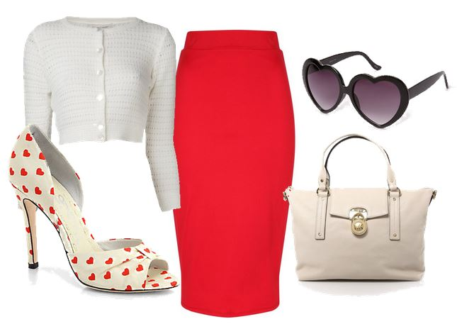what to wear with heart print shoes
