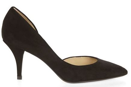 Hobbs black 'Alana' mid-heel court shoes