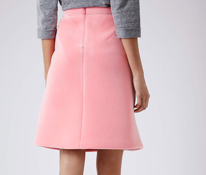 pink a-line skirt from Topshop