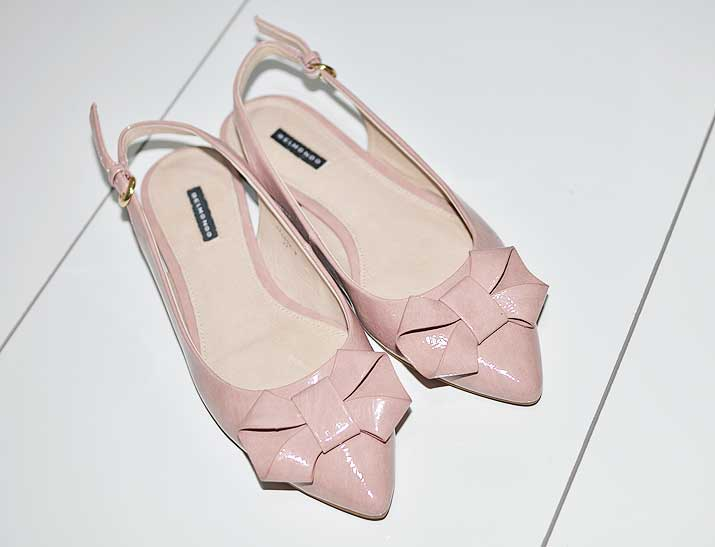 pink bow flats