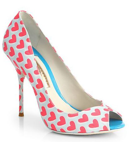 sophia webster heart print peep toes