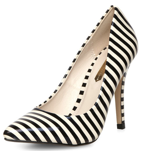 Dorothy Perkins stripe shoes