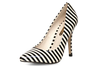 stripe court shoes