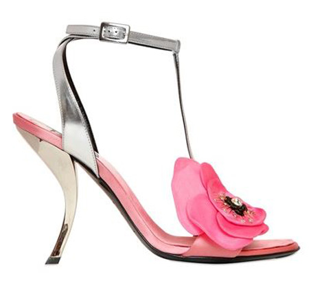 Roger Vivier 100mm 'Virgule Fleur' satin sandals