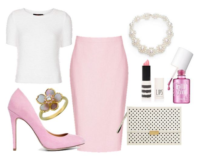 what to wear with pink shoes