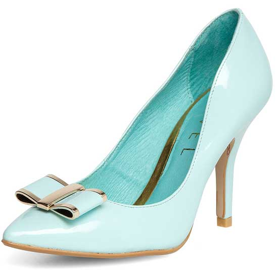 Ravel mint bow shoes