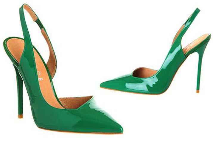 Office Jade green slingback shoes