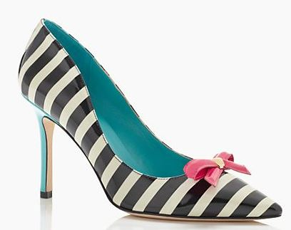 KAte Spade stripe shoes