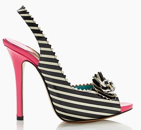 Kate Spade 'Candy' stripe slingbacks