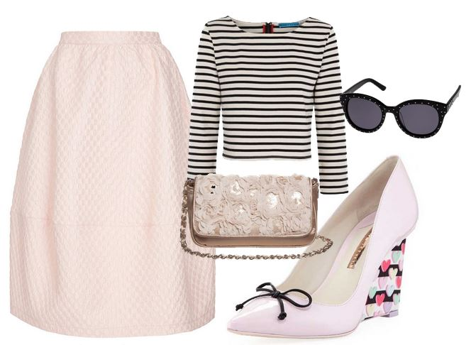 what to wear with pink wedge shoes