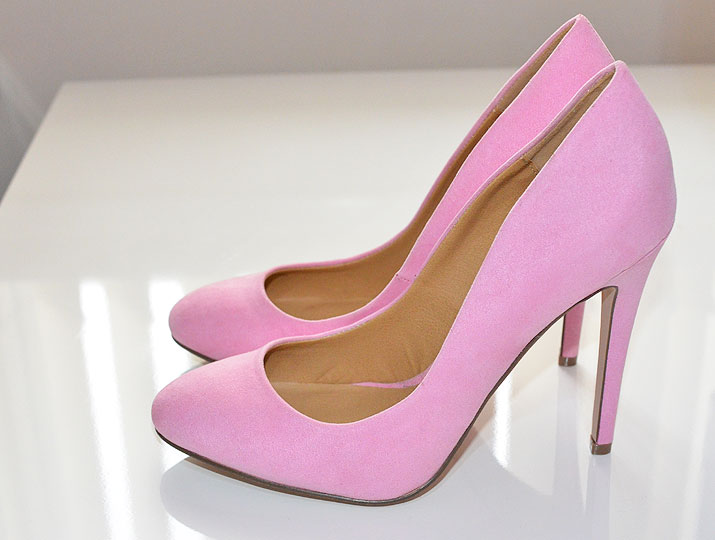 pink high heel wedges boot hto