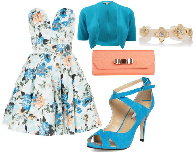 blue strappy sandals outfit
