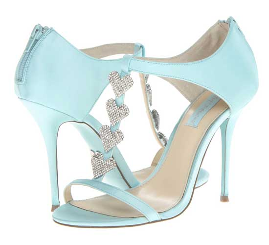 Betsey Jonson 'Blue' heart t-bat shoes