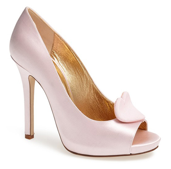 Kate Spade 'Collana' heart peep toes
