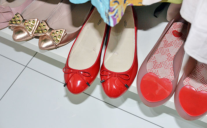 Shoe Review Zara Red Patent Ballet
