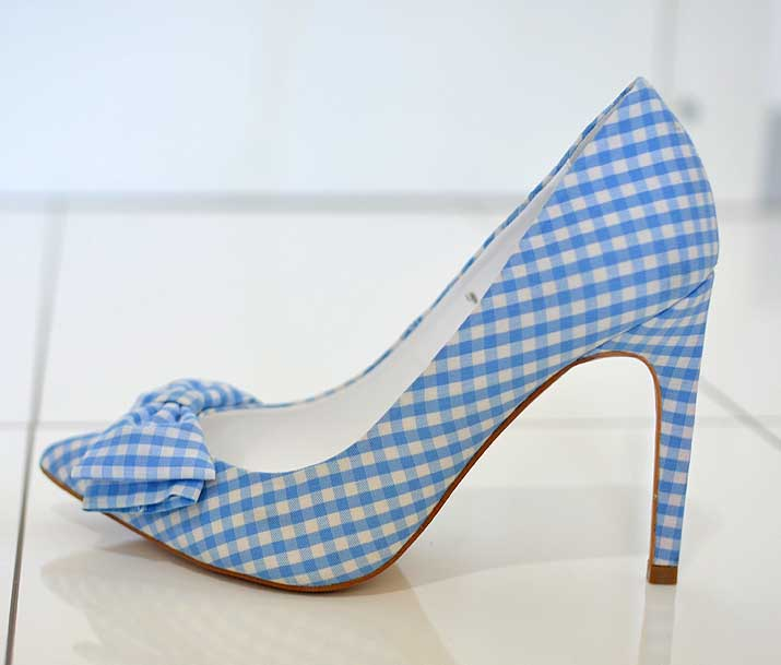 Topshop gingham bow shoes