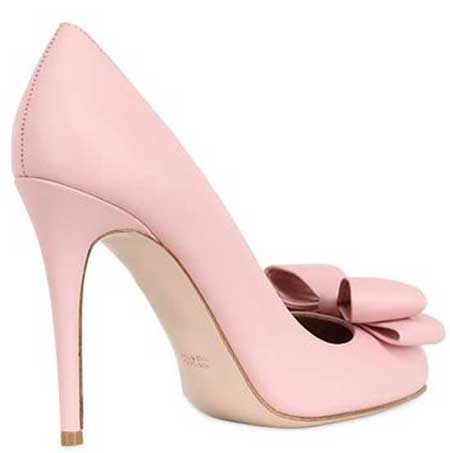 Red Valentino pink bow shoes