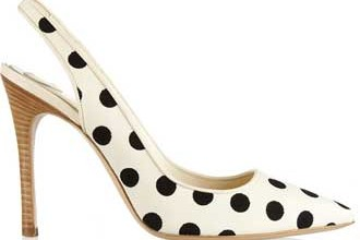 polka dot slingback shoes