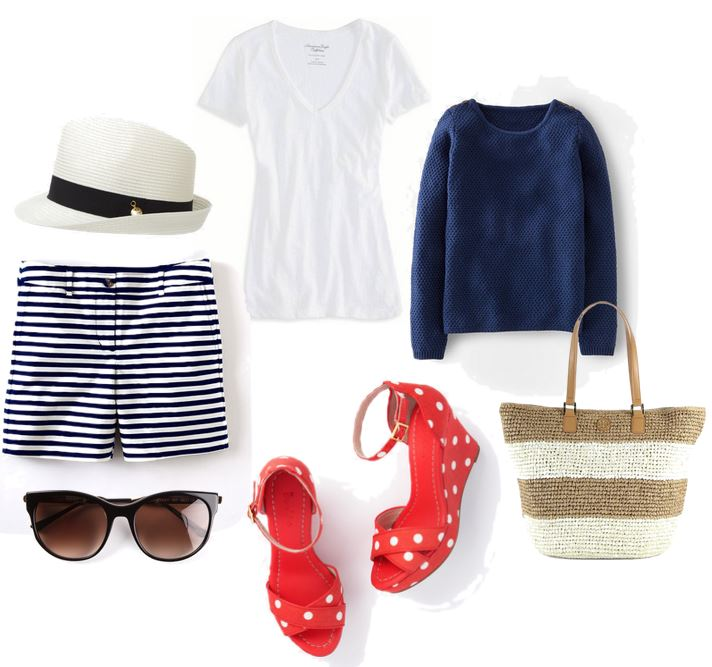 what to wear with red polka dot shoes