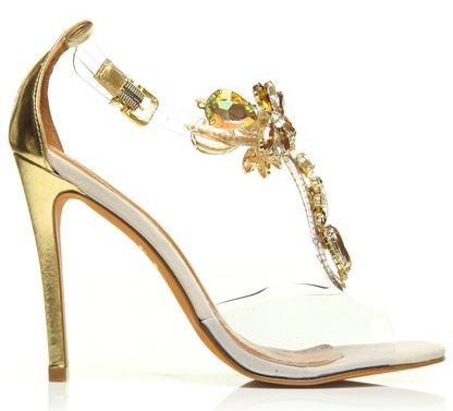 Moda in Pelle barely there sandals