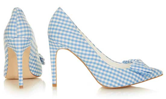 Topshop gingham high heel shoes