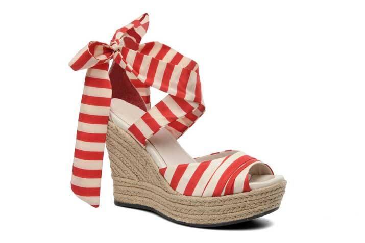 Ugg Australia Lucianna nautical stripe wedges